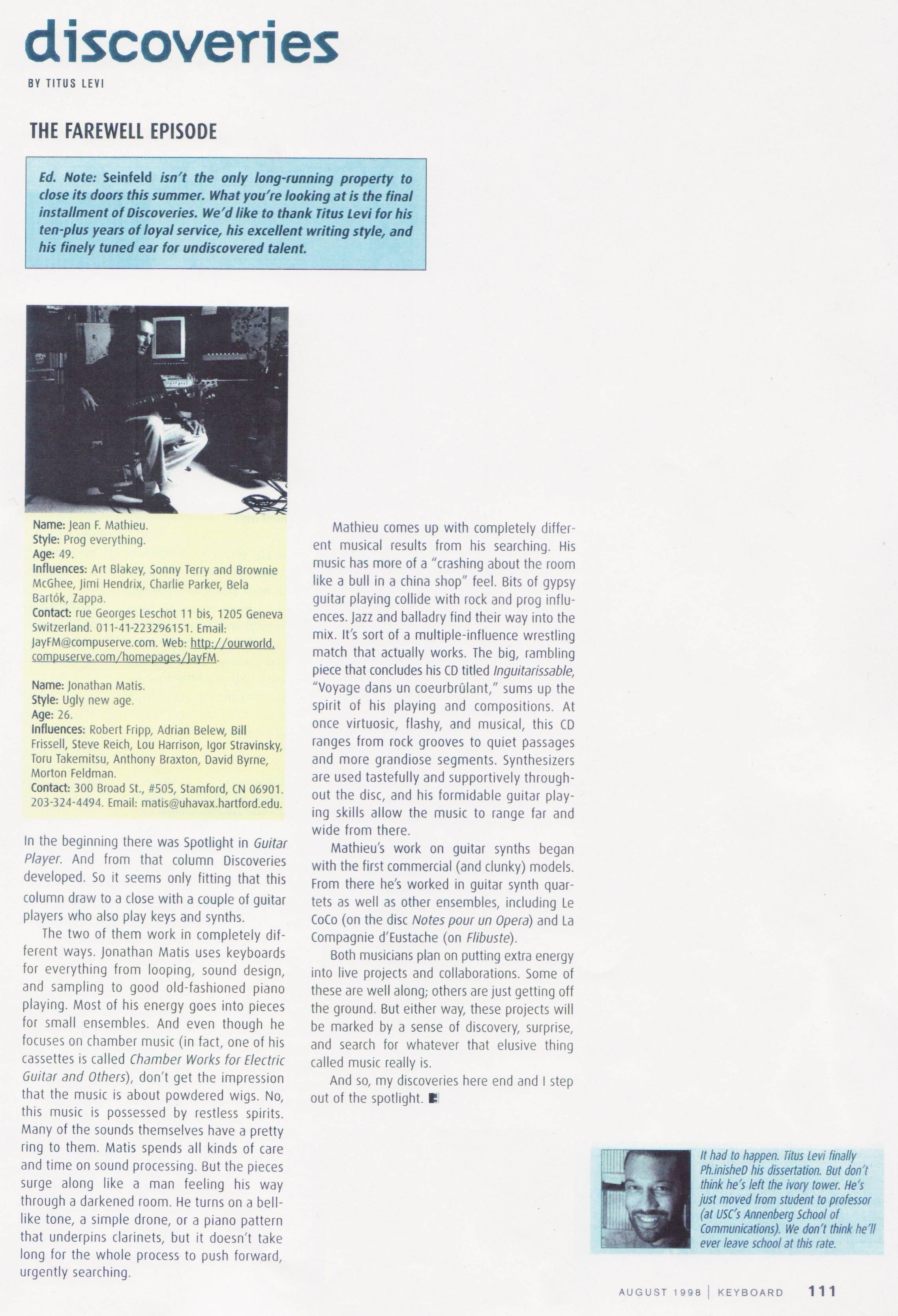ING article KEYB Aug 98 small