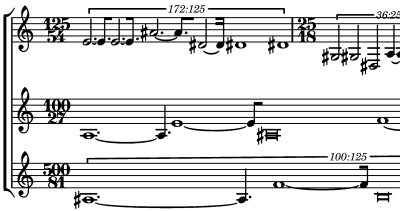 notation contemporaine